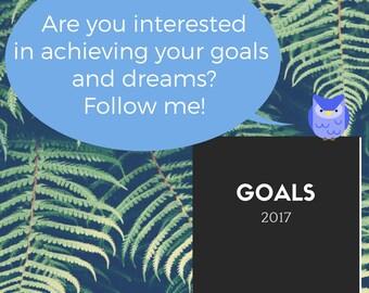 Diary / Goal Planner 2017 PDF Printables A5 / A4