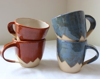 Mountain Mug | Hand Thrown Mug | Stoneware Cup | Coffee Mug