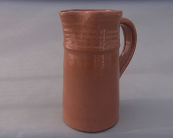 Small Ceramic Pitcher - Terracotta Milk or Juice Pitcher - Handmade Pottery  Vessel - Earthtone