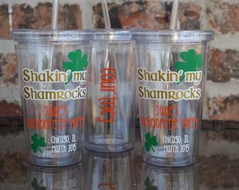 Shakin My Shamrocks St. Patricks Day Bachelorette Party Tumbler 16 ounce