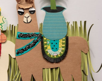 Cute Llama Wall Hanging, Digital Download