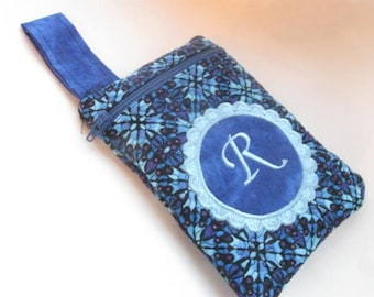 Women's Purse Monogrammed Personalized Sapphire Blue