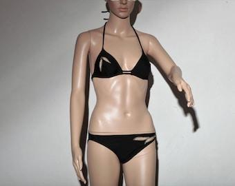 Vintage swimsuit 70noir