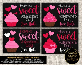 Sweet Treats Cupcakes Valentine's Day Cards