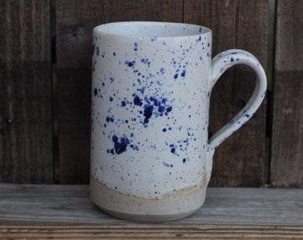 Tall freckled mug