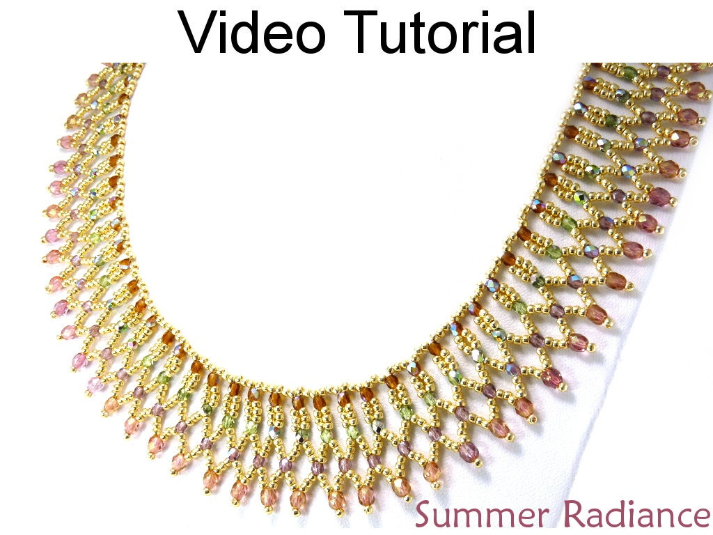 Video Tutorial Necklace Beaded Jewelry Making Pattern Netting