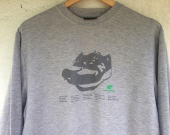 Rare Vintage 90s New Balance spellout pullover sweatshirt