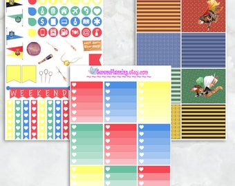 """Magical Wizards & Witches """"Sports"""" Deluxe Planner Sticker Kit - EC Vertical"""