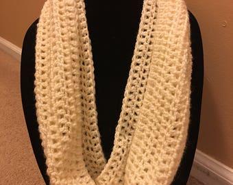 French Handmade Crochet Cream Cowl