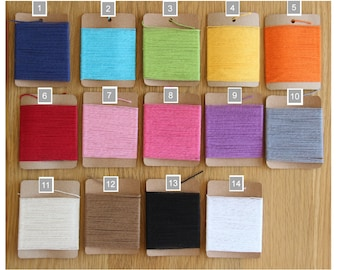 Divine Bakers Twine 10m Cotton 4ply Crafts Choice of Solid Colours