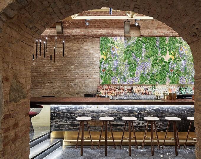 Watercolor Wisteria Wallpaper, wisteria wallpaper, wallpaper, floral wallpaper, botanical wallpaper, flower wallpaper, Egerton wallpaper