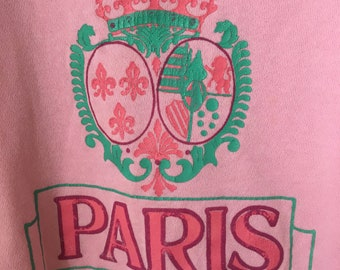 1980s Paris Pink Sweatshirt