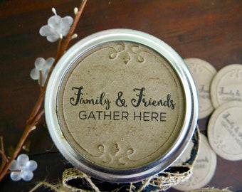 Mason Jar Labels, Jam Labels, Jar Stickers, Mason Jar Lid Inserts, Friends and Family Stickers, Jar Tags, Canning Jar Labels