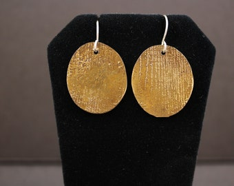Etched Copper Earrings (052418-009)