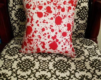 Blood Splatter decorative pillow