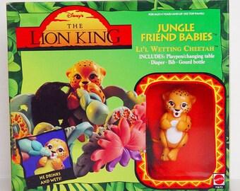 Disney Lion King Jungle Friends Lil Wetting Cheetah-New in Box