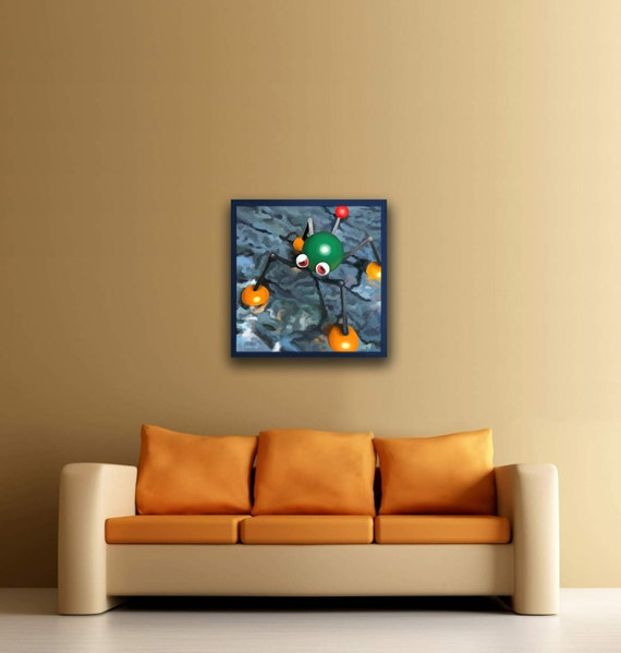 Wet Dry World Mario 64 24x24 Canvas print Free shipping in the