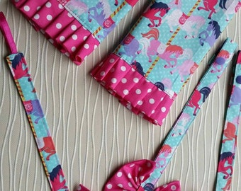 Matching Drool pads for Tula Carousel, dummy or toy clip and reach straps,accessories- manduca,Beco, Ergo, and Kinderpack and most other SSC