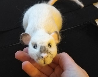 Custom, Made-to-Order Rat, Realistic and Lifesize, Needle Felted Out of 100% Wool
