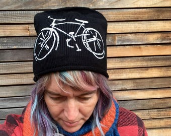 bike Hat, Bicycle Hat, Beanie, Gift for a Guy, Bike Gift, Bike Beanie, Winter Hat, Stocking Stuffer