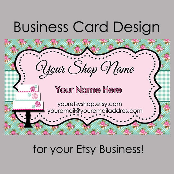 Items similar to business card design bakery business card items similar to business card design bakery business card premade business card cake and cookie business card design on etsy colourmoves