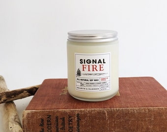 Signal Fire Literary Candle - Book Candle // All Natural Soy Wax/ Handpoured 8oz
