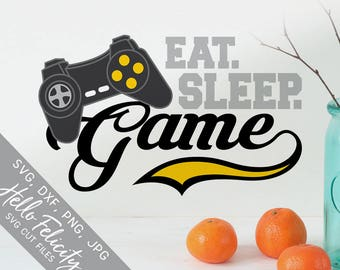 Video Game Svg, Gamer Svg, Eat Sleep Game Svg, Game Controller Svg, Dxf, Svg files for Cricut, Svg files for Silhouette, Vector Clip Art