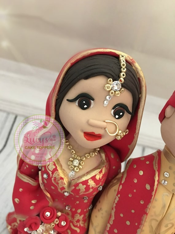 Detailed - Asian/Indian Wedding Cake Topper - Keepsake