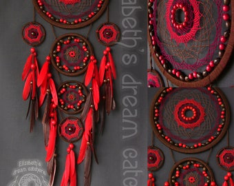 Dream catcher Dreamcatcher Brown dream-catcher wall hanging Dreamcatcher Gift Large Dreamcatcher dreamcatchers for wall nursery dreamcatcher