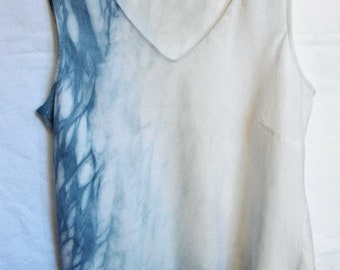 Upcycled Indigo Dyed Linen top