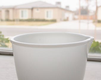 Milk Glass Mixing Bowl with Spout