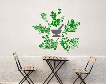 Apothecary wall art, apothecary sign, apothecary decor, herbs decal, herb wall decal, herb wall art, herbal wall art,