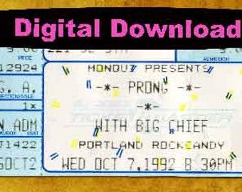 Prong Concert Ticket Stub, PHOTOSHOP FILE