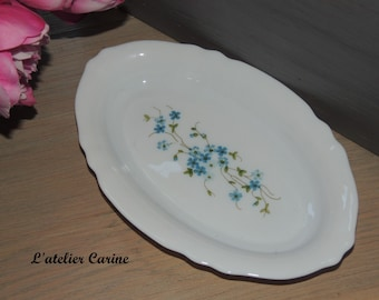 Small oval veronica arcopal, made in france, small oval dish.