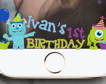 Monster Inc Kid Party Birthday Party  Snapchat Geofilter !