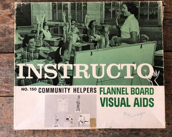 Vintage Instructo Flannel Board Visual Aids