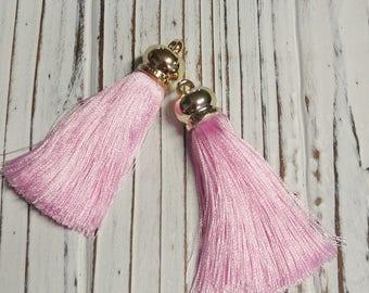 Ice Silk Tassel, Pink Tassel, DIY, Supplies, Overstock, Jewellery Supplies, 6.5 cm - 2 Pcs