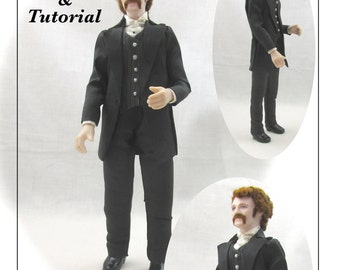 Dollhouse Doll JAMES VICTORIAN Man Doll Pattern and Tutorial PDF Miniature Dollhouse 1:12 Scale Instant Download (Experienced)