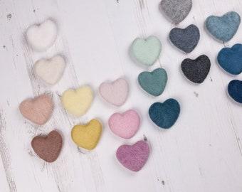 Needle Felted, Wool heart, newborn photo prop, felted heart, woollen prop, wool photo prop, newborn prop
