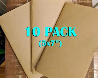 Bulk Kraft Notebooks, 5 x7 Inch, Journals, Sketchbook, Small Kraft Journals, Blank/Lined Notebook, Notes, Kraft Notebook- 10 PACK