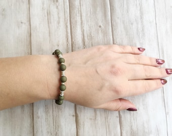 Bracelet green / green / silver / nice gift / mothersday | Bracelet This is Green