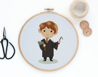 Ron Weasley - Harry Potter movie character - Modern cross stitch pattern PDF - Instant download