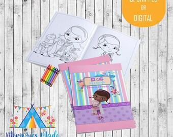 Doc McStuffins Coloring Pages - Doc McStuffins Coloring Book - Doc McStuffin Birthday Party Favors - Coloring Book Kids