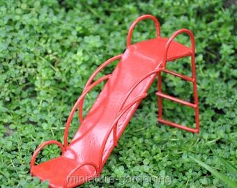 Red Slide for Miniature Garden, Fairy Garden