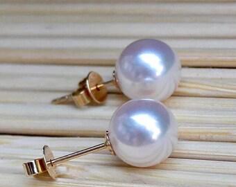 Pearl Earrings, sea, or18K/Silver 925