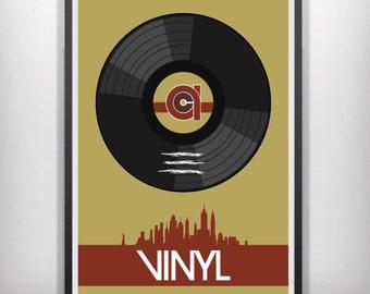 Vinyl minimalist movie poster