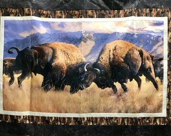"Northcott Naturescapes ""When Push Comes to Shove"" Buffalo / Bison Quilt Kit"