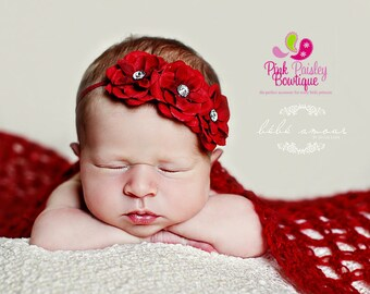 July 4th Baby Headband - 8 Color Options - Baby Girl Headbands - Baby Hairbows - Infant Headband - Red Headband - headband baby  Baby bows