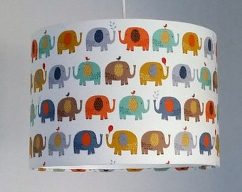 Elephant Nursery Lampshade, Jungle Nursery Decor, Neutral Nursery Lamp, New Baby Gift, Elephant Baby Gift, Gender Neutral Baby Gift