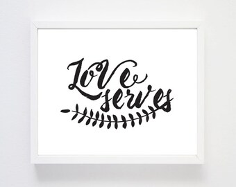 Love Serves - Art Print